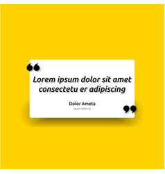 Remark quote text box poster template concept vector