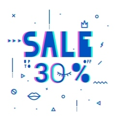 Sale modern banner in the psychedelic style vector image