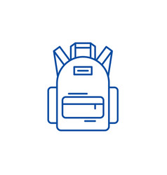 school bag line icon concept school bag flat vector image