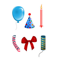 Set of objects for celebration vector