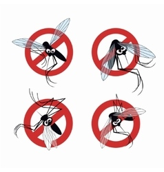 Seth mosquito warning sign vector