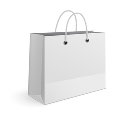 Shopping paper bag isolated on white background vector image