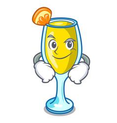 Smirking mimosa character cartoon style vector
