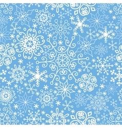 Snowflakes seamless patternlaceWinterChristmas vector image