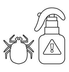 spray icon outline line style vector image