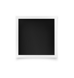 square photo frame white image blank with shadow vector image
