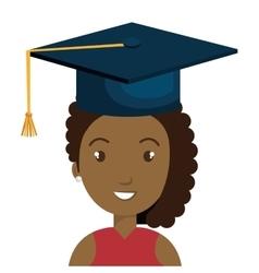 Student graduate avatar icon vector