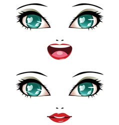 Stylized female face vector