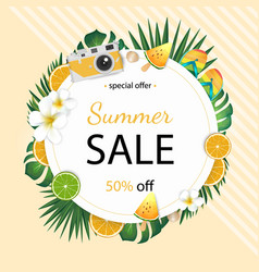 summer sale beautiful web banner stock vector image