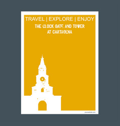 the clock gate and tower at cartagena bolvar vector image