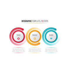 Three steps infographic process chart with vector