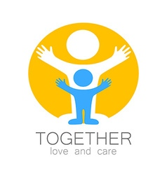 together love care logo vector image