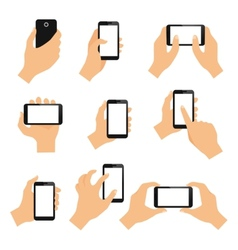 Touch screen hand gestures vector image