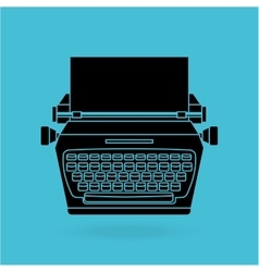Typewriter machine design vector