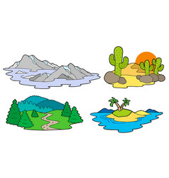 Various landscapes collection vector