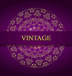 Vintage monogram gold vector