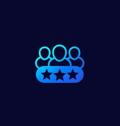 Vip members premium users icon vector
