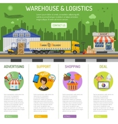 Warehouse and logistics infographics vector image