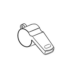 Whistle hand drawn outline doodle icon vector