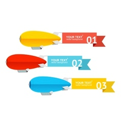 Airship card for your text vector image vector image