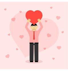 man in love vector image