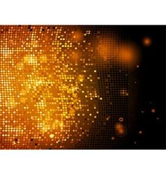 Sparkling golden disco wall vector image vector image
