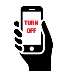 Turn off mobile phones icon vector image vector image