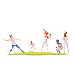 baseball players design concept vector image