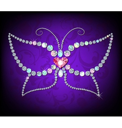 Brilliant butterfly vector image vector image