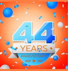 forty four years anniversary celebration vector image vector image