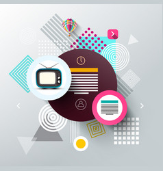 Modern web template with shapes abstract vector