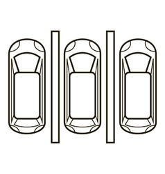 Parking plan icon outline style vector image