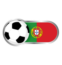 portugal soccer icon vector image vector image