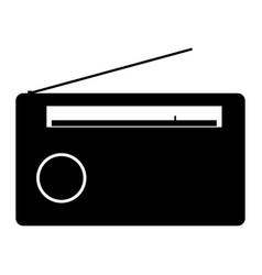 radio the black color icon vector image vector image