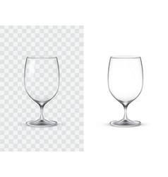 realistic wine glasses vector image vector image