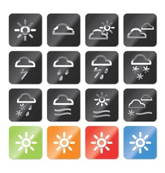 Weather and nature icons vector