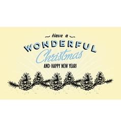 354Retro Vintage Merry Christmas Tin Sign vector image