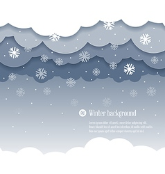 Clouds winter vector image vector image