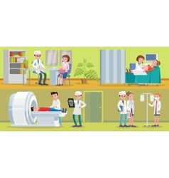Healthcare Horizontal Banners vector image vector image