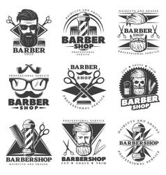 Vintage Barber Hipster Labels vector image vector image