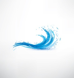 blue water wave abstract symbol vector image