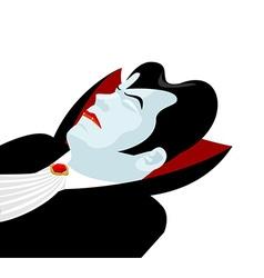 Dracula sleep Count Dracula on white background vector image