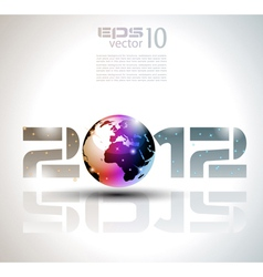 new year world vector image vector image