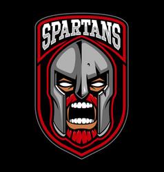 spartan warrior logo design vector image vector image