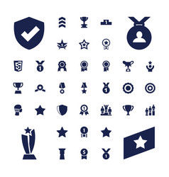 37 award icons vector