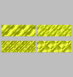 Abstract geometrical rectangle pattern banner vector