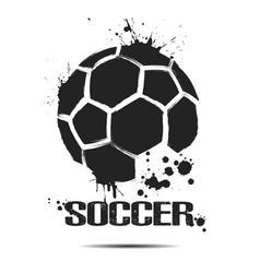 Abstract soccer ball icon vector
