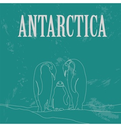 Antarctica South Pole Retro styled image vector