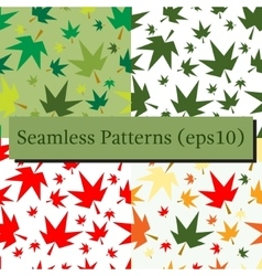 Autumn fall maple leaves seamless pattern vector