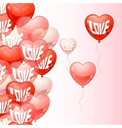 Background with flying balloons in the shape of a vector